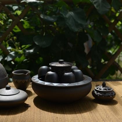 玉章凤傣陶章芭茶器8件套(定制)