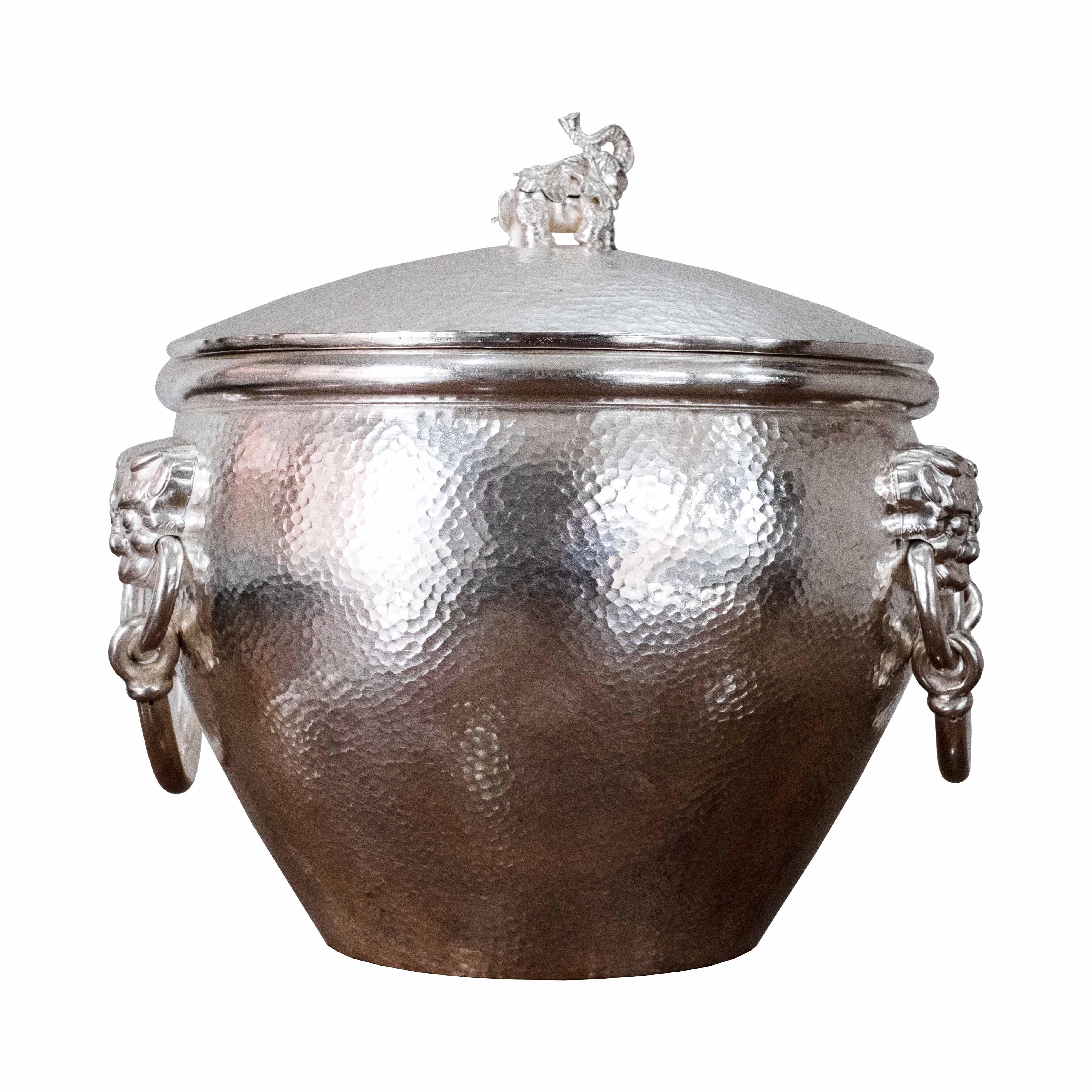 纯银风水缸