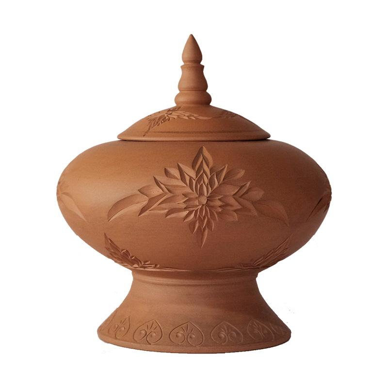 菊纹塔型罐