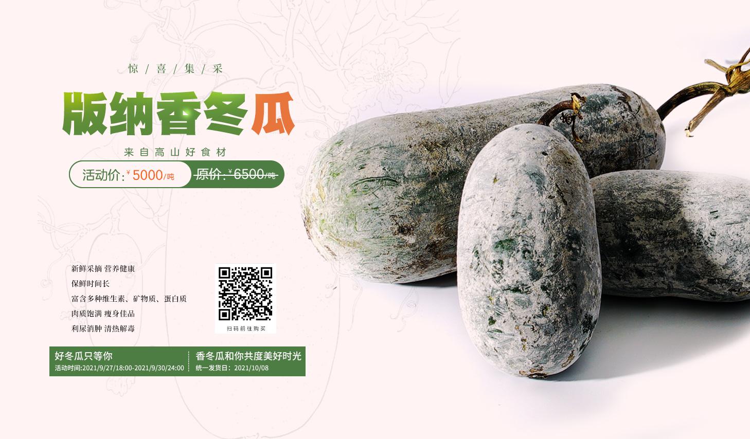 版纳香冬瓜——来自高山好食材